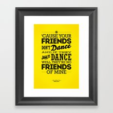 One Hit Wonder- Safety Dance in Yellow Framed Art Print