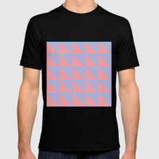 Pink Blue Peach Houndstooth /// www.pencilmeinstationery.com Black Mens Fitted Tee MEDIUM