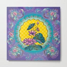 Dreamy Peranakan Lotus Metal Print