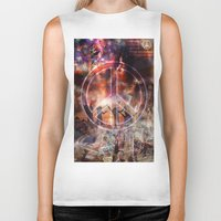 woodstock Biker Tanks featuring Woodstock Peace by ZiggyChristenson