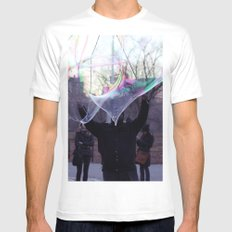 The Bubble Maker White MEDIUM Mens Fitted Tee
