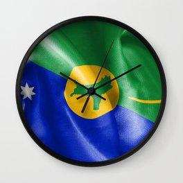Christmas Island Flag Wall Clock