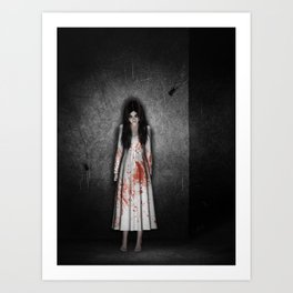 The dark cellar Art Print