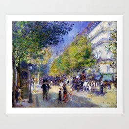 Pierre-Auguste Renoir - The Grands Boulevards - Digital Remastered Edition Art Print