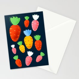 Carrots not only for bunnies - seamless pattern Stationery Cards
