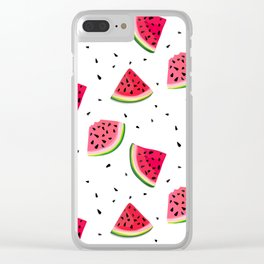 Watermelon slices Clear iPhone Case