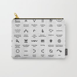 Hobo Symbols Carry-All Pouch