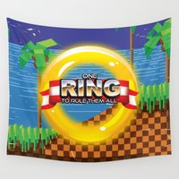 video game Wall Tapestries featuring Retro Platform Video game poster  by Nick's Emporium Gallery