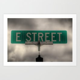 E Street Art Print