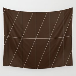 Brown Triangles by Friztin Wall Tapestry