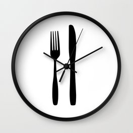 Foodie Love II Wall Clock