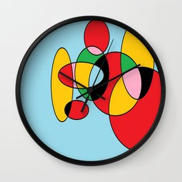 Circulos mult color Wall Clock
