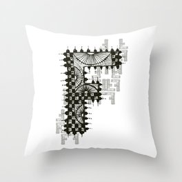 Color Me F Throw Pillow