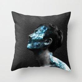 Crystalline Coffin Throw Pillow