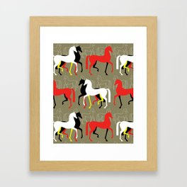 March of the Arabians Framed Art Print