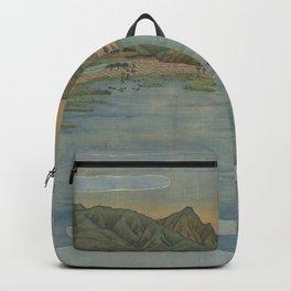 Lake view 2. Ukiyoe Landscape Backpack