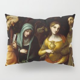 "Antonio Allegri da Correggio ""Saints Peter, Martha, Mary Magdalen, and Leonard"" Pillow Sham"