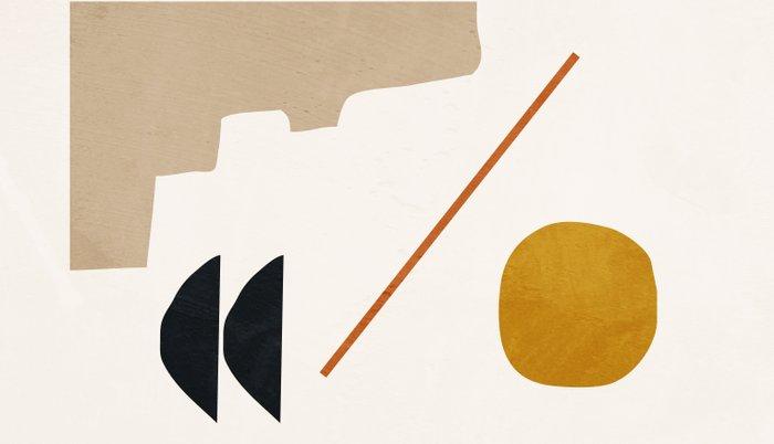 abstract minimal 6 Kissenbezug