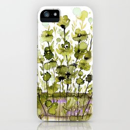 Floral Charm No.1H by Kathy Morton Stanion iPhone Case