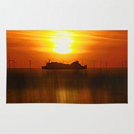 Belfast Ferry (Digital Art) Rug