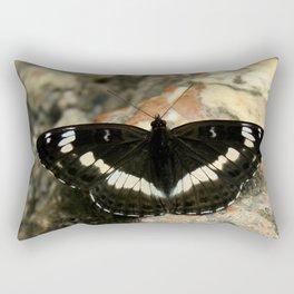 Butterfly on a Rock Rectangular Pillow