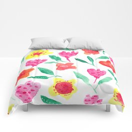 Summer blossoms Comforters