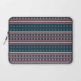 Ships Ahoy Blue/Red Stripe Laptop Sleeve
