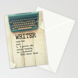 Writer - rahy-ter - 1. A person who enjoys banging on a keyboard. With their head. Stationery Cards