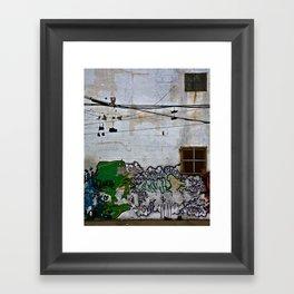 silhouette. Framed Art Print