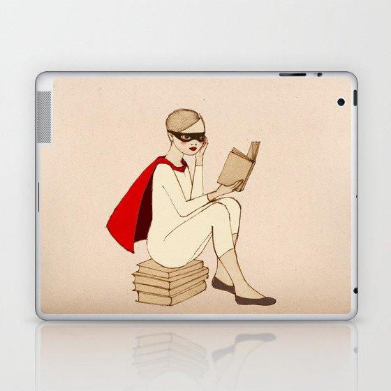 Superhero reader Laptop & iPad Skin
