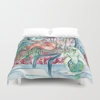 friendship Duvet Covers featuring Friendship by Giulia Colombo