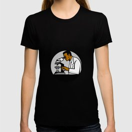 African American Research Scientist Mascot T-shirt