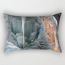 Behind Spouting Rock  Frozen Waterfall - Hanging Lake - Glenwood Canyon Colorado Rectangular Pillow