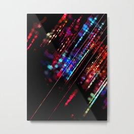 Meteor Rainbow Metal Print