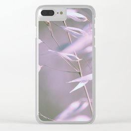 wild oats swaying in violet Clear iPhone Case