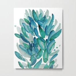 Leaves Bloom Always Metal Print