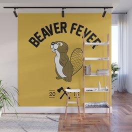 Beaver Fever - Black and White Wall Mural