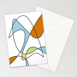 Mid Century Modern Abstract Design Stationery Cards