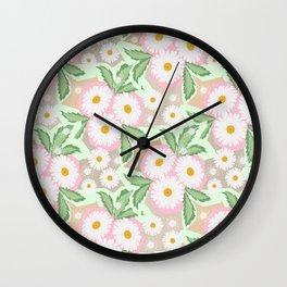 Chamomiles. Pastel'. Wall Clock