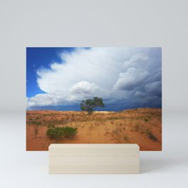 Lonely desert tree Mini Art Print