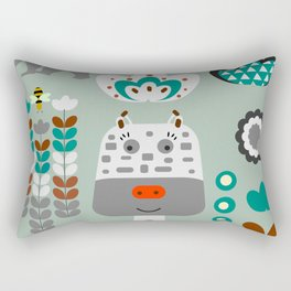 Happy giraffe Rectangular Pillow