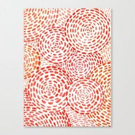 Orange Circles Canvas Print