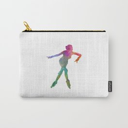Woman in roller skates 08 in watercolor Carry-All Pouch