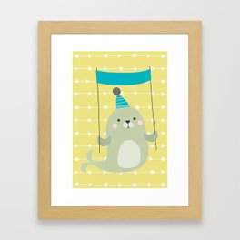 Cute seal Framed Art Print