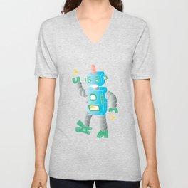 cartoon toy robot. Unisex V-Neck