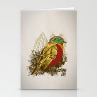 robin Stationery Cards featuring Robin by Krikoui
