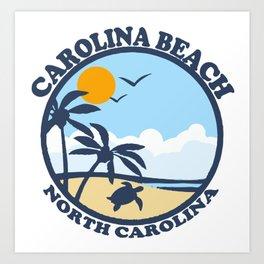 Carolina Beach - North Carolina. Art Print