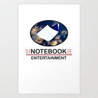 notebook Art Prints featuring Notebook Entertainment by NotebookFilms