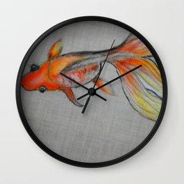 Goldfish Pond (close up #6) #society6 #decor #buyart Wall Clock