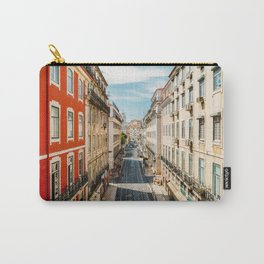 Beautiful Streets Downtown Lisbon City, Wall Art Print, Modern Architecture Art, Poster Decor Carry-All Pouch